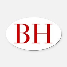 BH-bod red2 Oval Car Magnet