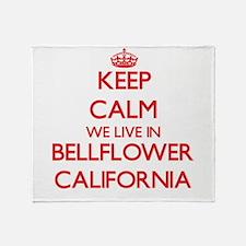 Keep calm we live in Bellflower Cali Throw Blanket