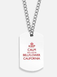 Keep calm we live in Bellflower Californi Dog Tags