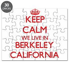 Keep calm we live in Berkeley California Puzzle