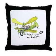 Who's Your Mechanic? Throw Pillow