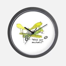Who's Your Mechanic? Wall Clock