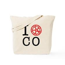 I Bike CO Tote Bag
