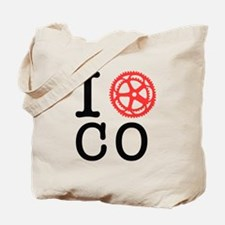 I Bike CO Tote Bag