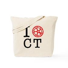 I Bike CT Tote Bag