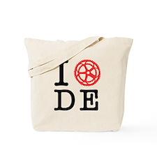 I Bike DE Tote Bag
