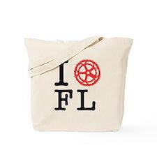 I Bike FL Tote Bag
