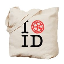 I Bike ID Tote Bag