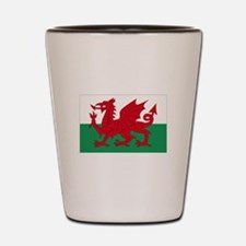 Wales flag decorative Shot Glass