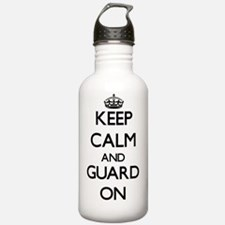 Keep Calm and Guard ON Water Bottle