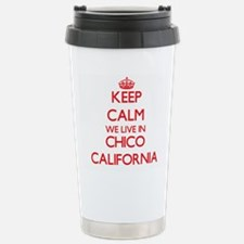Keep calm we live in Ch Stainless Steel Travel Mug