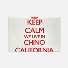 Keep calm we live in Chino California Magnets
