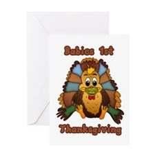 Babies First Thanksgiving Card Greeting Cards