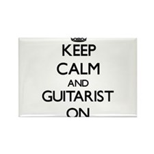 Keep Calm and Guitarist ON Magnets