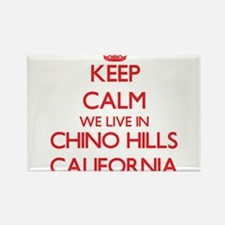 Keep calm we live in Chino Hills Californi Magnets