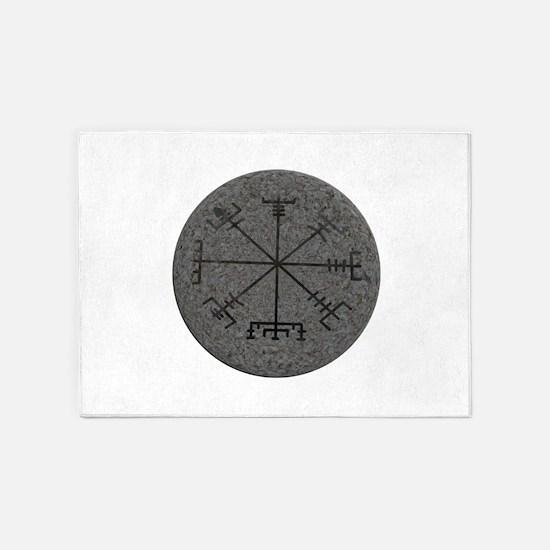 viking compass 5'x7'Area Rug