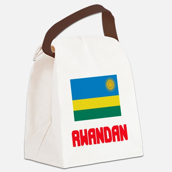 Rwandan Flag Design Canvas Lunch Bag