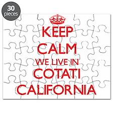 Keep calm we live in Cotati California Puzzle