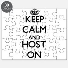 Keep Calm and Host ON Puzzle