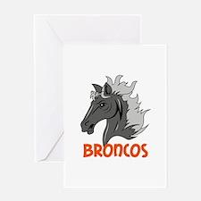 BRONCOS Greeting Cards