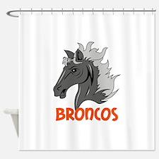 BRONCOS Shower Curtain