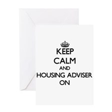 Keep Calm and Housing Adviser ON Greeting Cards