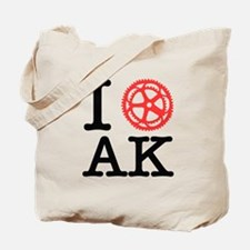 I Bike AK Tote Bag