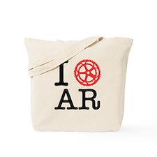I Bike AR Tote Bag