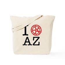 I Bike AZ Tote Bag