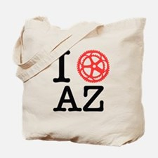 I Bike AZ Tote Bag