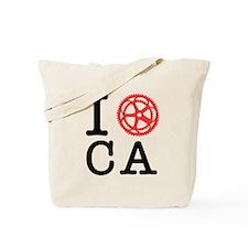 I Bike CA Tote Bag