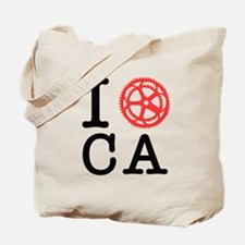 I Bike CA Tote Bag