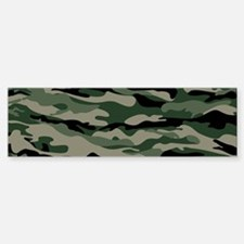 Army Camouflage Bumper Bumper Bumper Sticker