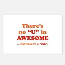 There's No U In AWESOME Postcards (Package of 8)