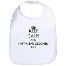 Keep Calm and Knitwear Designer ON Bib