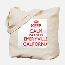 Keep calm we live in Emeryville Californi Tote Bag