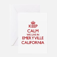 Keep calm we live in Emeryville Cal Greeting Cards