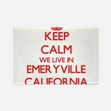Keep calm we live in Emeryville California Magnets