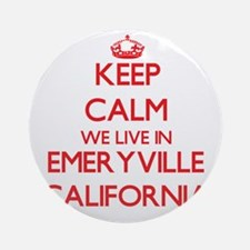 Keep calm we live in Emeryville C Ornament (Round)