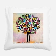 Butterfly tree Square Canvas Pillow
