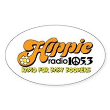 Hippie Radio 105.3 Logo Decal