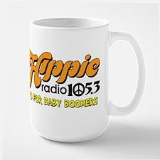 Hippie Radio 105.3 Logo Mugs