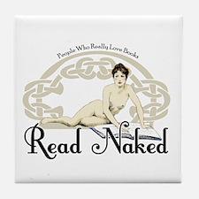 Read Naked Tile Coaster