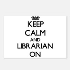 Keep Calm and Librarian O Postcards (Package of 8)