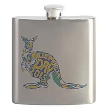Cute Australia day Flask