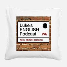 Luke's English Podcast Square Canvas Pillow