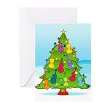 Cute Musical instrument christmas Greeting Cards (Pk of 10)