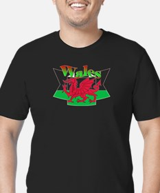 Welsh decorative ribbo Men's Fitted T-Shirt (dark)