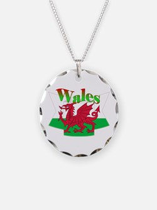 Welsh decorative ribbon Necklace