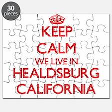 Keep calm we live in Healdsburg California Puzzle